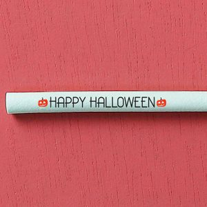 """Switch Eat - zoom paille comestible et compostable """"Happy Halloween"""" 500x500"""