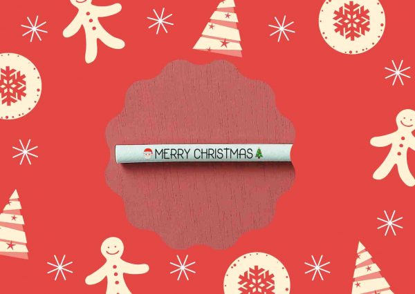 Switch Eat - Pailles comestibles et compostables sérigraphiées Merry Christmas